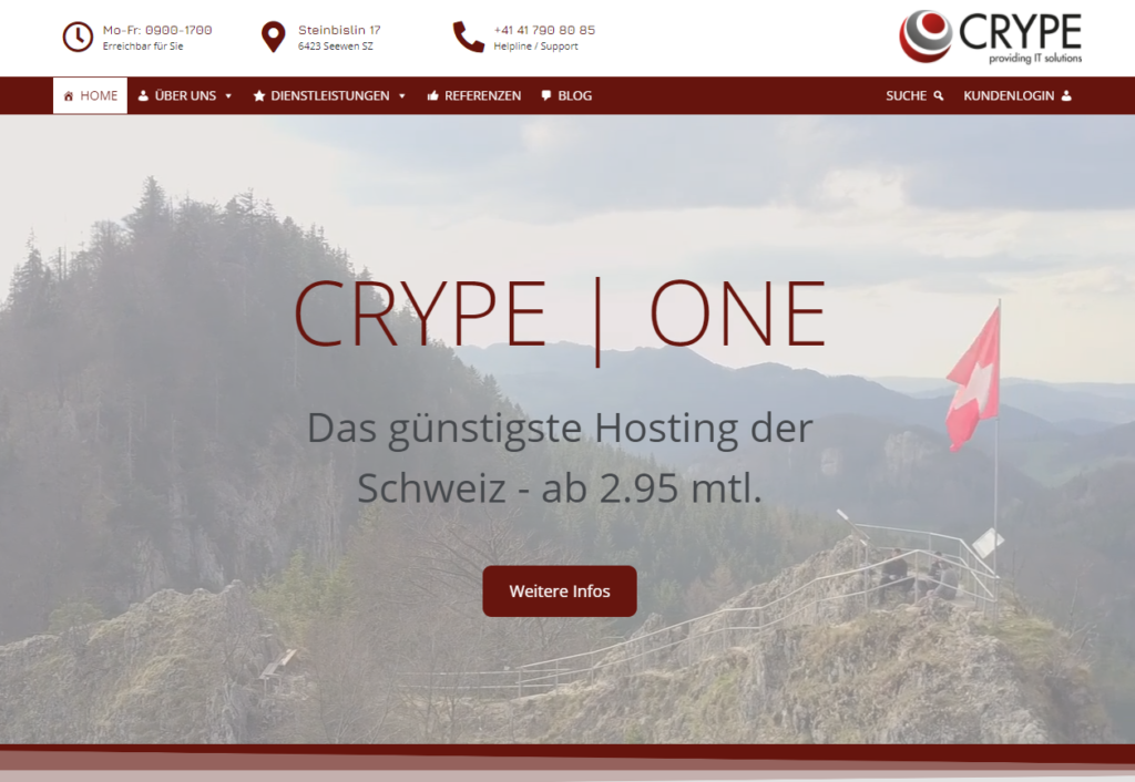 Die neue Homepage der CRYPE Solutions GmbH