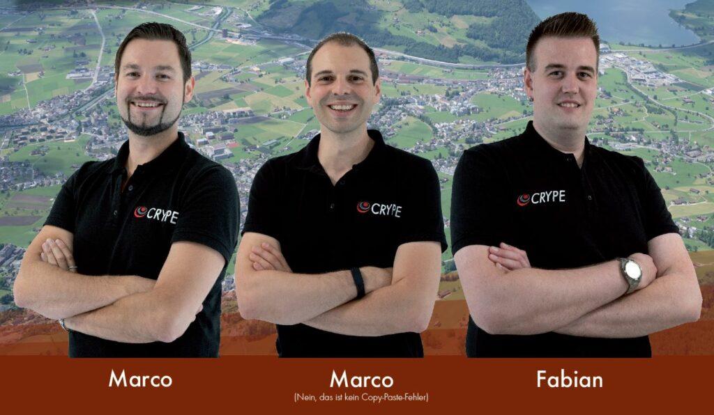 Unser starkes Team der CRYPE Solutions GmbH