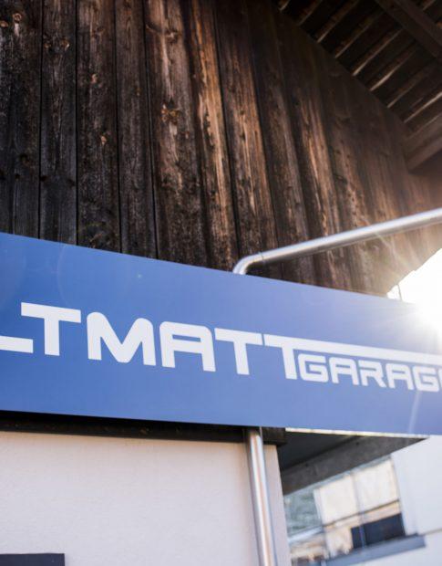 Das Logo der Altmattgarage in Rothenthurm