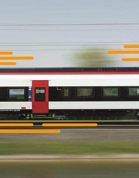 Die swissconnect ag transportiert viele Sendungen mit dem Zug